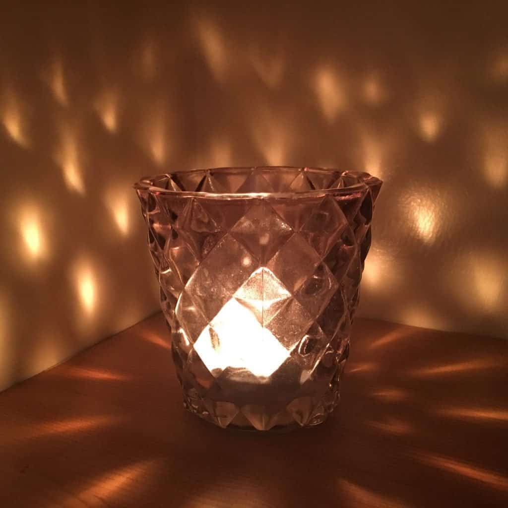 Candle for relaxation massage